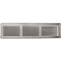 16 inch x 4 inch Mill Under Eave Vent Aluminum