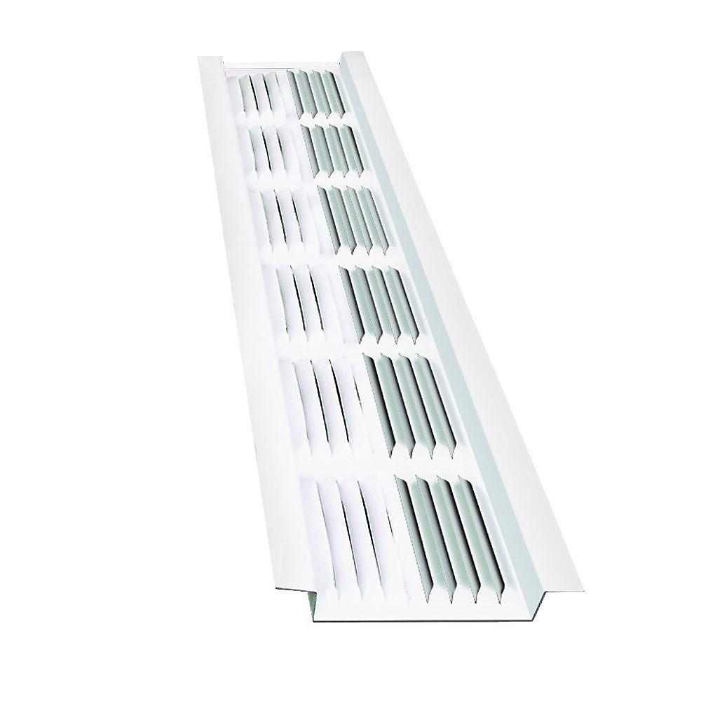Master Flow 8 Ft Aluminum Under Eave Soffit Vent In White