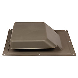 Master Flow 37 -inch NFA High Impact Resin Super Low-Profile Slant Back Roof Louver Static Vent in Brown