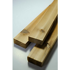 Cedar 1 inch x 2 inch x 8 ft. Knotty Cedar Trim Board