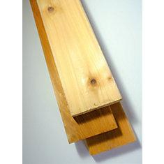 Plancher de cèdre premium, 5/4 x 4 x 10 pi