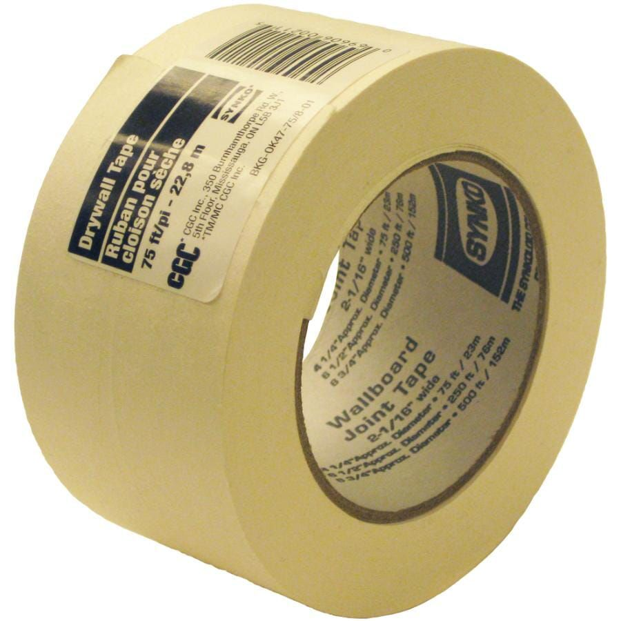 Paper Drywall Tape, 2-1/16 in x 75 Ft. Roll