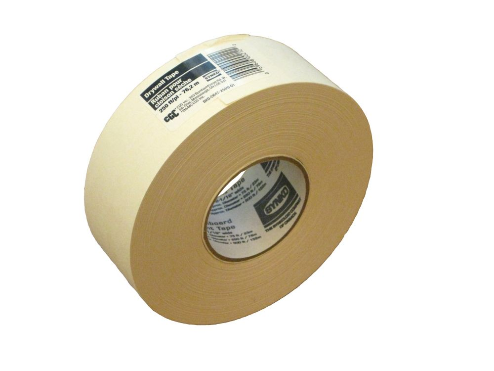 Paper Drywall Tape, 2-1/16 in x 250 Ft. Roll
