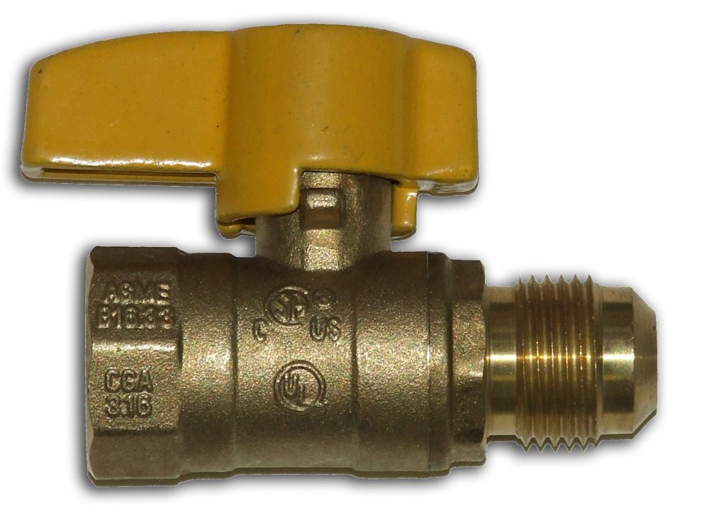 Flare Gas Ball Valve 3/8 Inch O.D x 1/2 Inch FIP