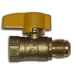 Waterline Flare Gas Ball Valve 3/8-inch O.D x 1/2-inch FIP