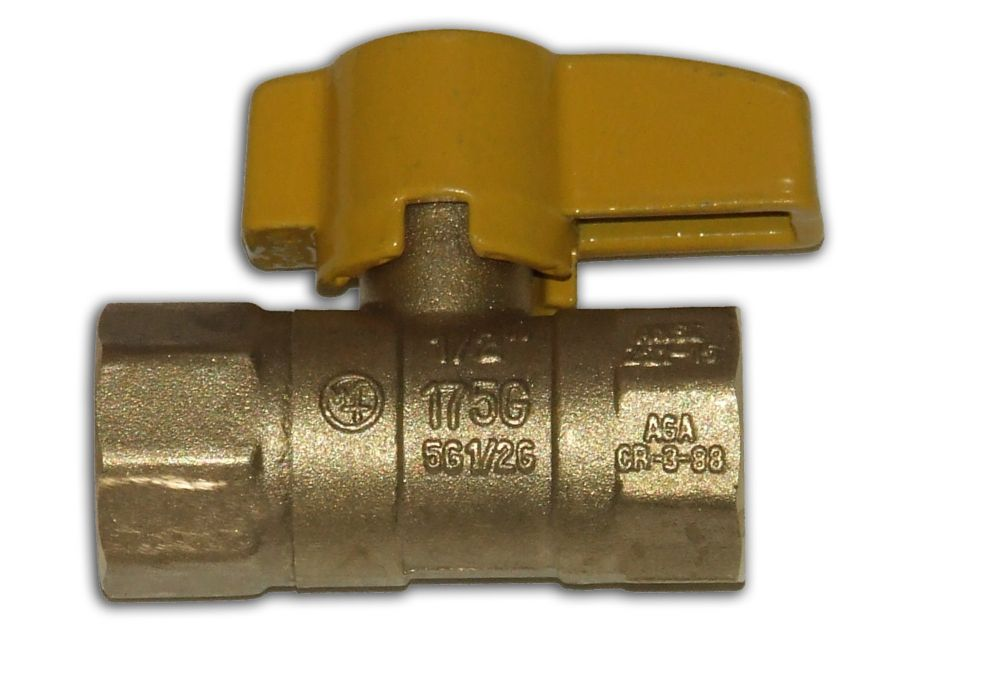 Straight Gas Ball Valve 1/2 Inch x 1/2 Inch FIP