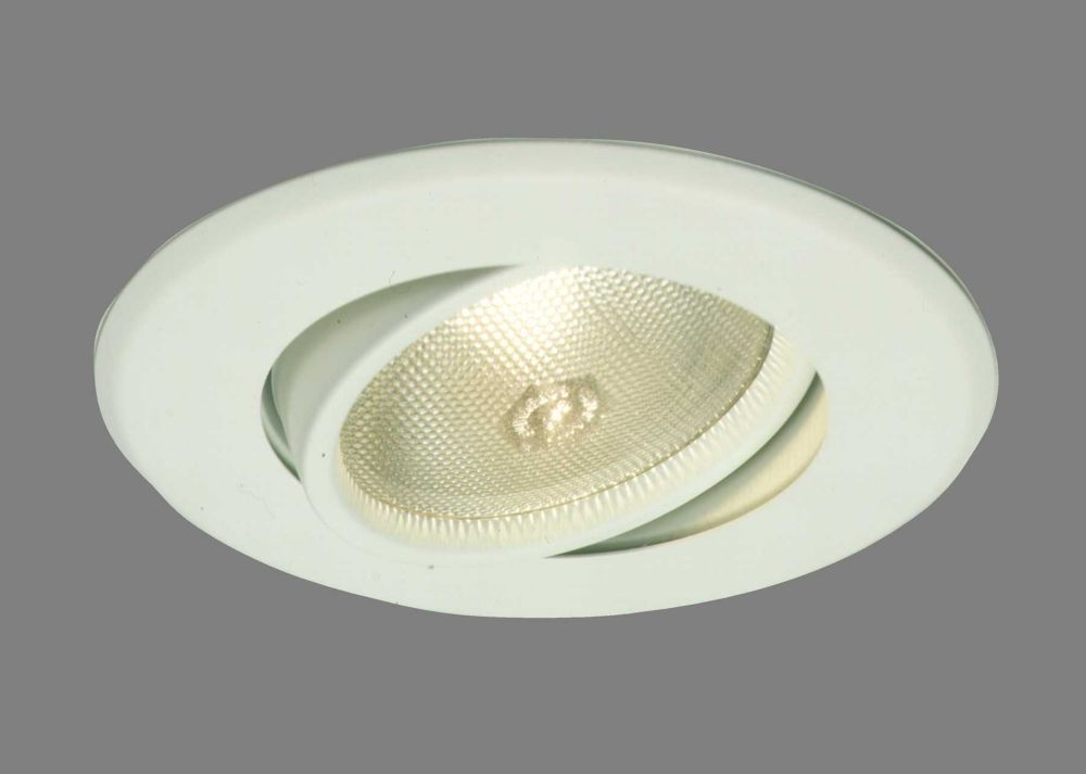 Adjustable Flush Gimbel PAR30 Trim Satin White-5 Inch Aperture