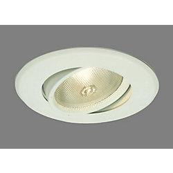 Halo Luminaire réglable et affleurant 5060P, PAR30, garniture blanc satiné, ouverture de 13 cm