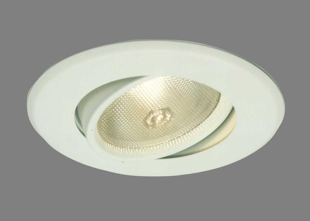 Luminaire réglable et affleurant 5060P, PAR30, garniture blanc satiné, ouverture de 13 cm