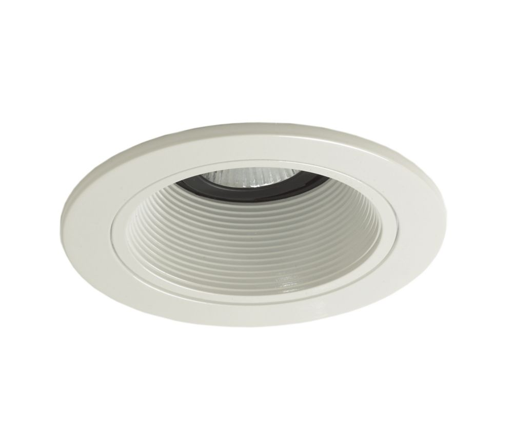 6 Inch Par30 Adjustable Gimbal Ring Trim White Recessed: Halo 4 Inch. LED Surface/Downlight White Trim, 4000K