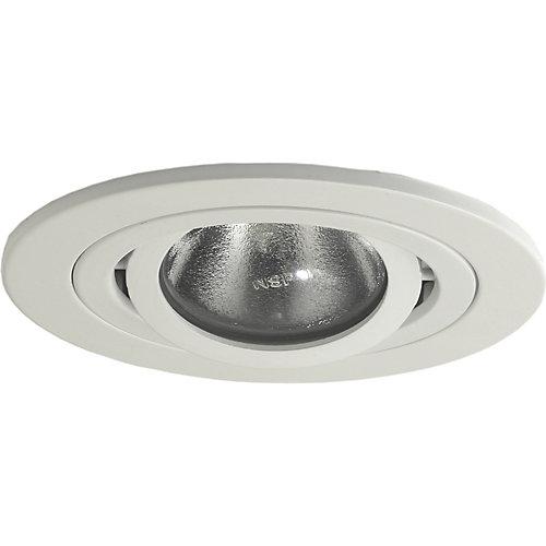 Luminaire affleurant 997, PAR20, garniture matricée blanc satiné, ouverture de 10 cm