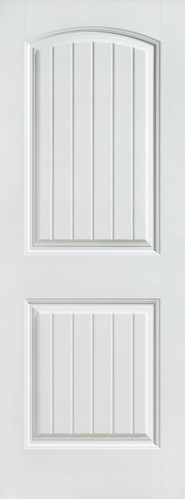 24-inch x 80-inch Primed Smooth 2 Panel Plank Interior Door Slab