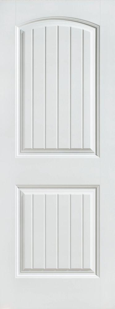 Porte intérieure apprêtée 2 panneaux planches lisses 28 pouces x 80 pouces