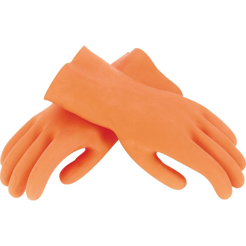 Gants robustes pour coulis, une paire, orange, large