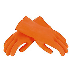 Large Orange Heavy-Duty Grouting Gloves, One Pair