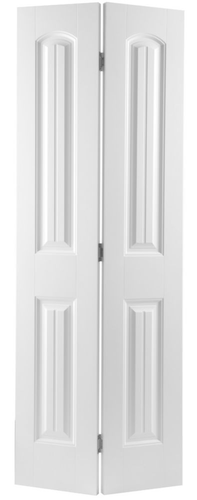 Masonite 24x80 porte pliante 2 panneaux lambris lisse for Porte home depot