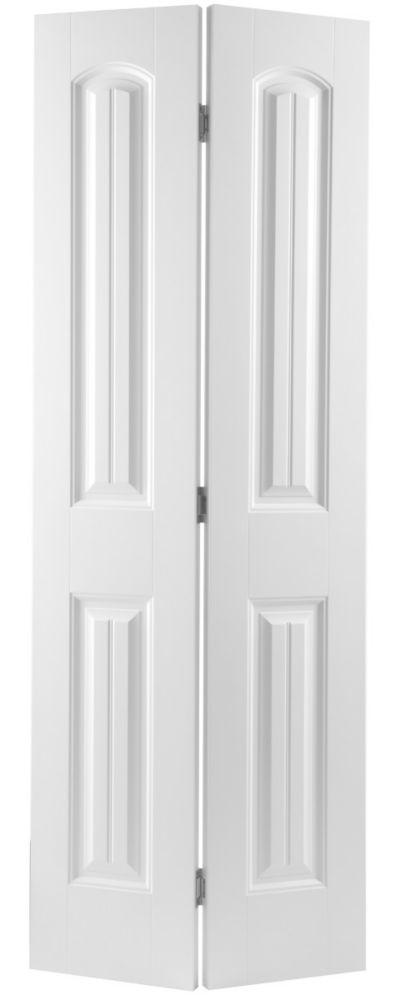 30-inch x 80-inch 2-Panel Plank Smooth Bifold Door