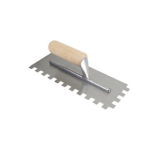 Traditional 1/2 In. Square Notch Flooring Trowel