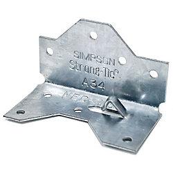 Simpson Strong-Tie Chapiteau/Base De Poteau 4 x  (ZMAX)