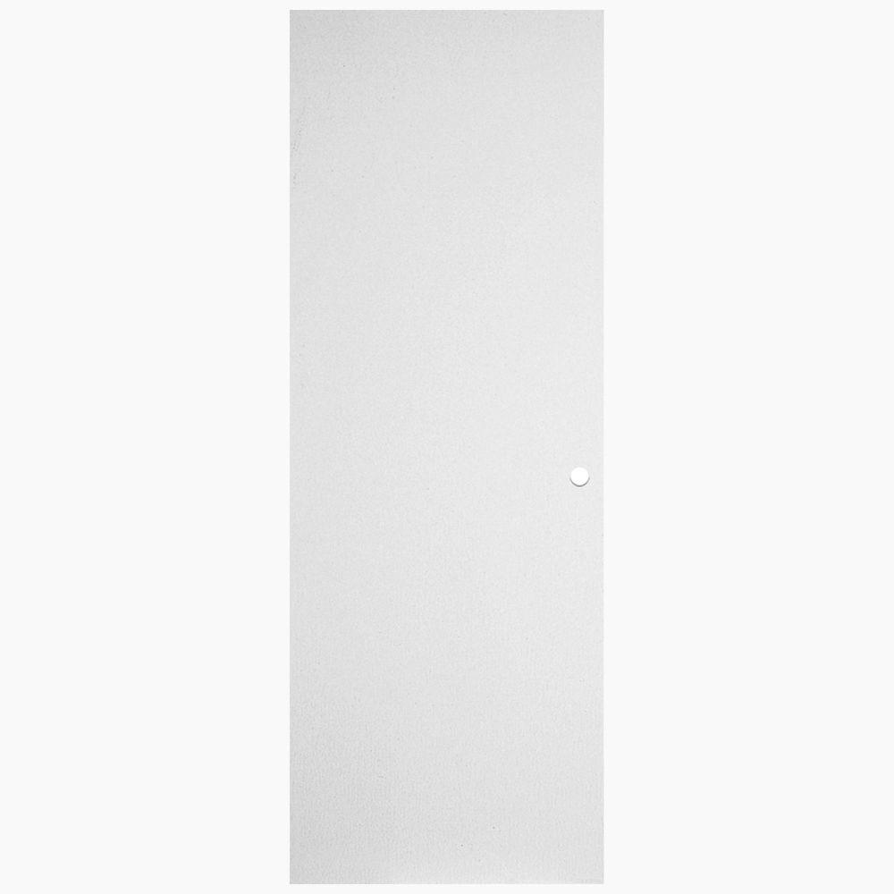 29 13/16-inch x 79 1/8-inch x 1 3/4-inch Primed Left Hand Hardboard Door