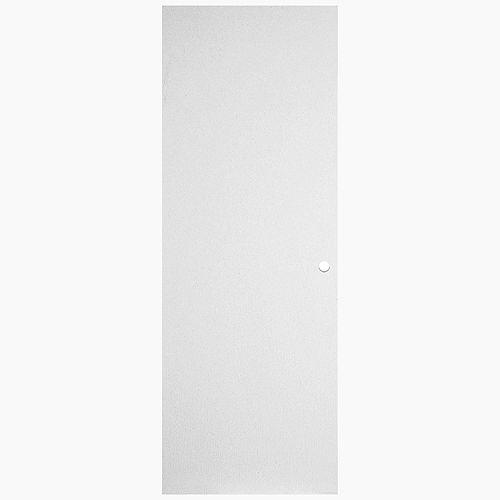 Masonite 29 13/16-inch x 79 1/8-inch x 1 3/4-inch Primed Left Hand Hardboard Door