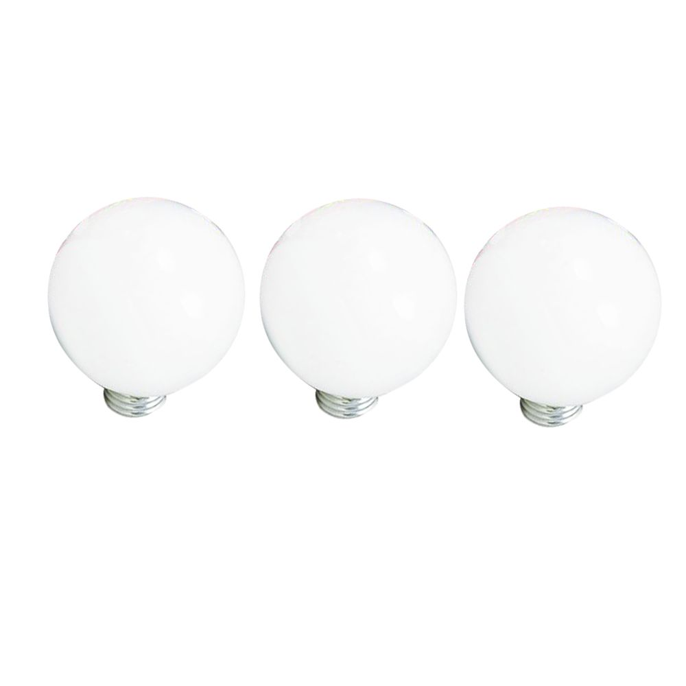 40W G25 White Medium Base 3Pk