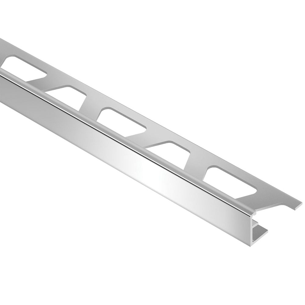 Schiene Bright Chrome 3/8 in. x 8 ft. 2-1/2 in. Anodized Aluminum L-Angle Tile Edging Trim