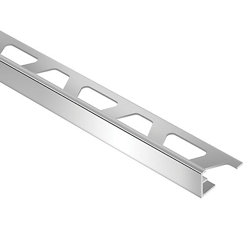 Schiene Bright Chrome 1/2-inch x 8 ft. 2-1/2-inch Anodized Aluminum L-Angle Tile Edging Trim
