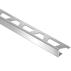 Schiene Bright Chrome 1/2-inch x 8 ft. 2-1/2-inch Anodized Aluminum L-Angle Tile Edging Trim