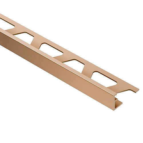 Schluter Jolly Satin Copper/Bronze Anodized Aluminum 5/16-inch x 8 ft. 2-1/2-inch Metal Tile Edging Trim