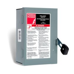 Schneider Electric - Federal Pioneer 30 Amp General Purpose Single Pole Safety Switch