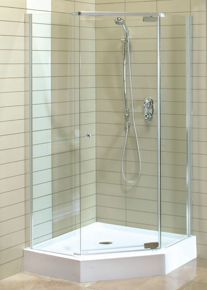 Magnolia 38-Inch  x 38-Inch  x 77-Inch  Acrylic Shower Stall