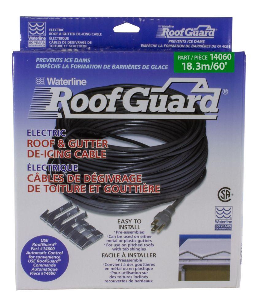 Câble chauffant pour toitures et gouttières de 60 pieds