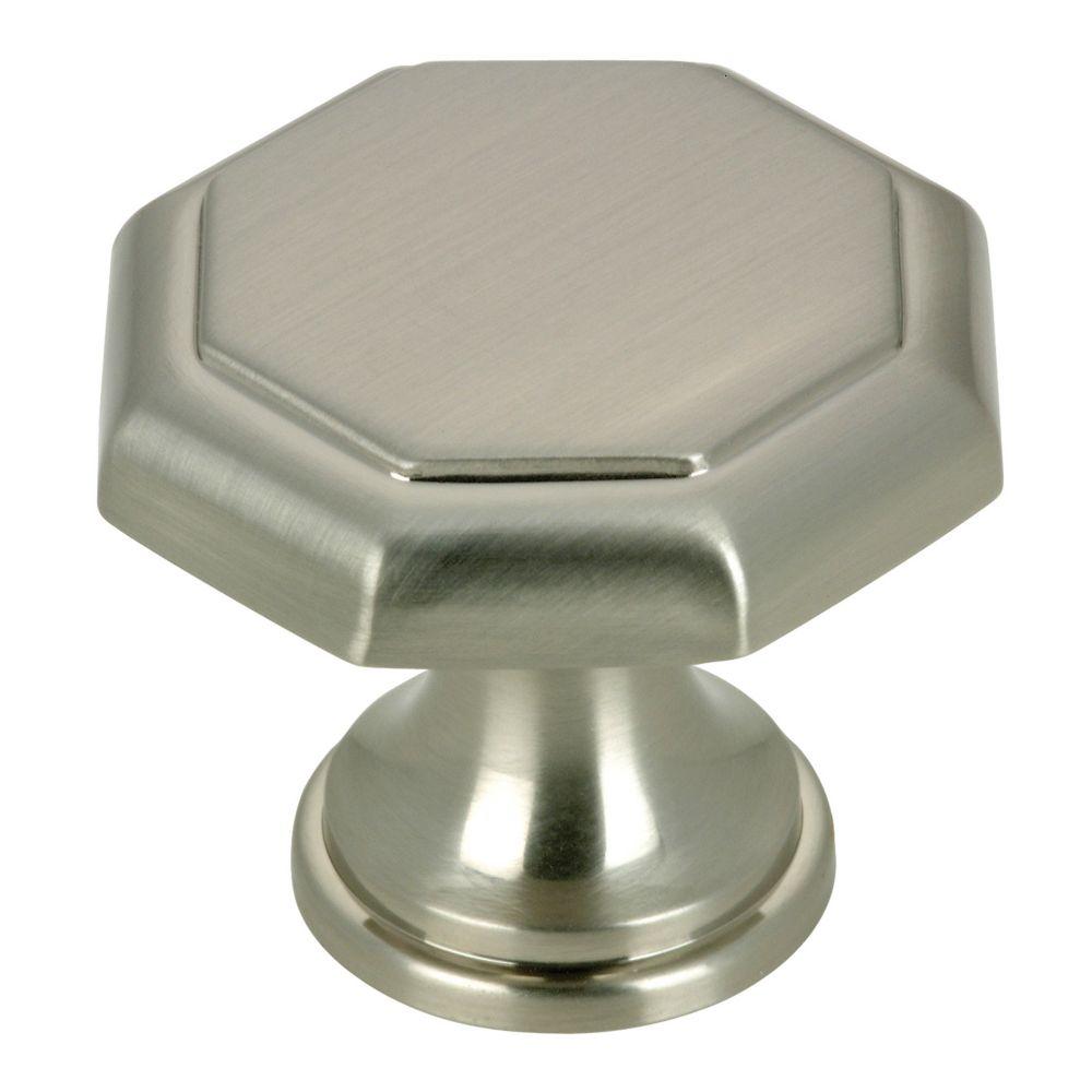 Classic Metal Knob - Brushed Nickel - 30 mm Dia.