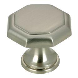 Richelieu Bouton traditionnel en métal 1 3/16 in (30 mm) Dia - Nickel brossé - Marseille Collection