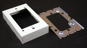 Starter Switch Outlet Box Metal Ivory