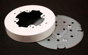 Round Fan Box Metal Ivory
