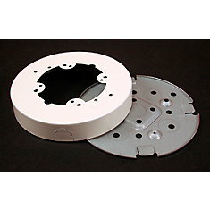 Round Fan Box Metal Ivory