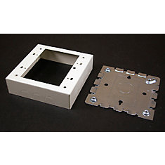 Deep Outlet Box 2 Gang Metal Ivory