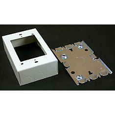Deep Outlet Box Metal Ivory