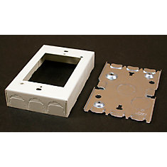 Outlet Box Metal Ivory