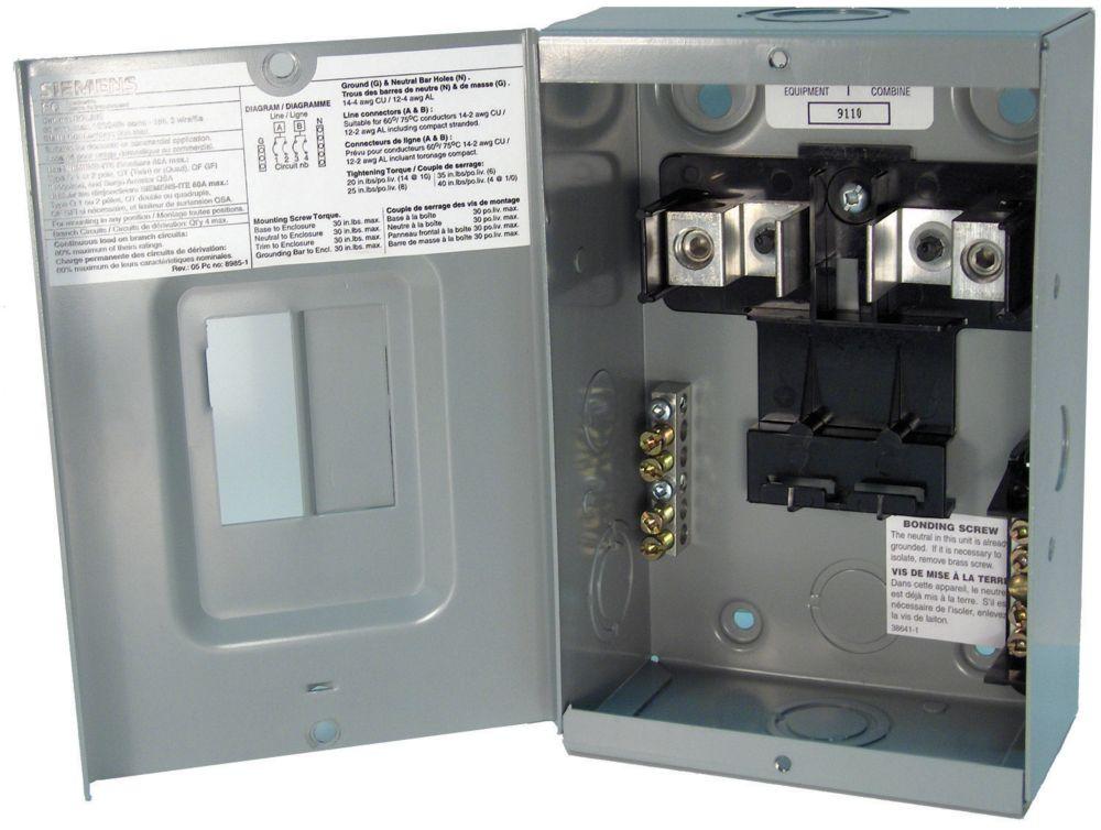 2/4 Circuit 60A 120/240V Loadcentre