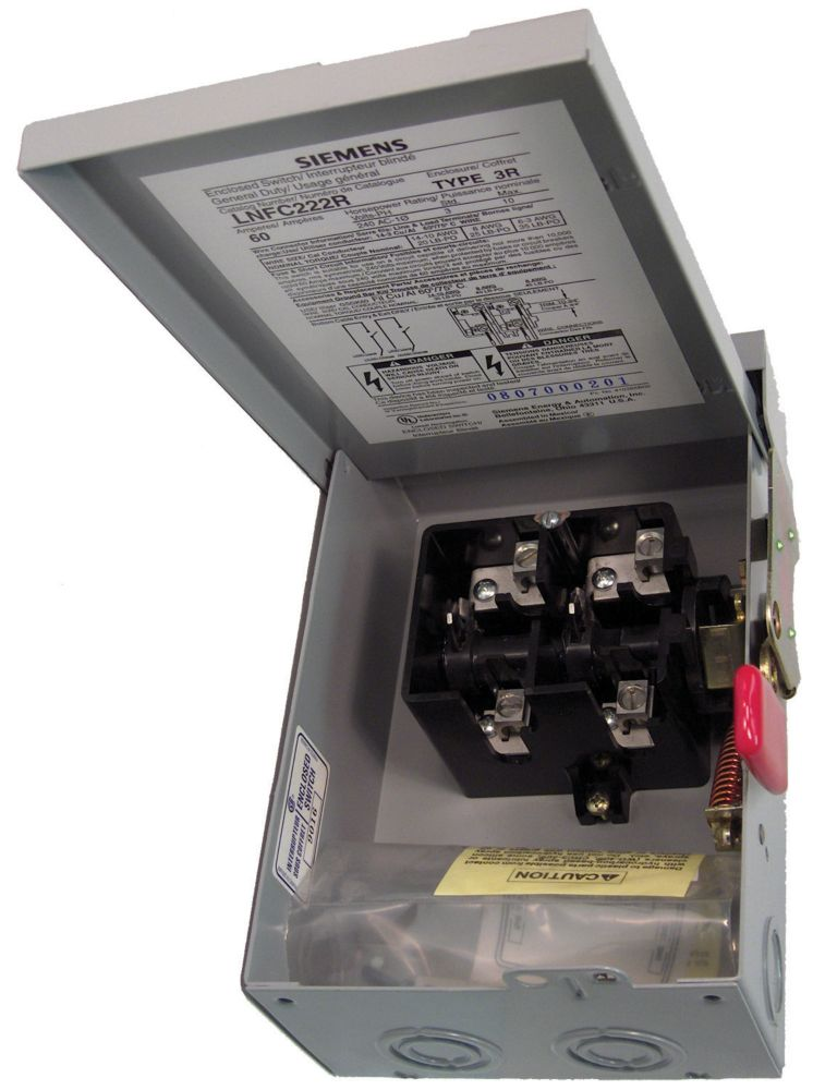 60A 2 Pole 240V Non-Fusible Switch