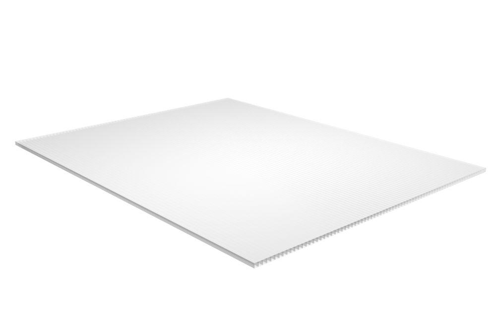 White Corrugated Plastic - .157 Inch x 24 Inch x 48 Inch