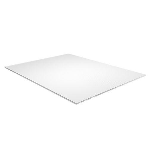 Plaskolite Feuille en plastique ondulée blanc de 0,39 cm x 121 cm x 243 cm (0,157po x 48po x 96po)