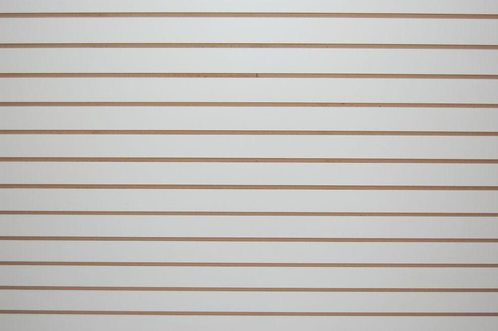 Slotwall 3/4po  4 x 8 fini mélamine blanche
