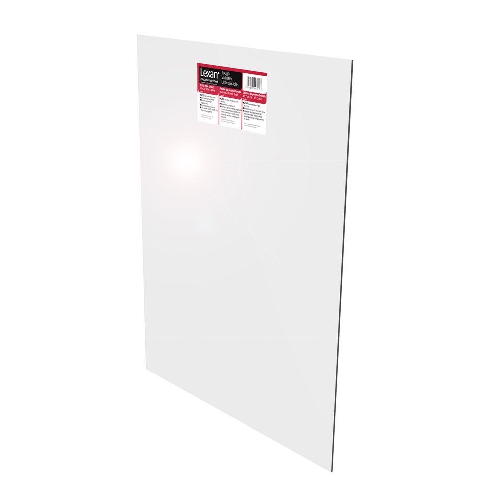 Polycarbonate Sheet - .093 Inch x 18 Inch x 24 Inch