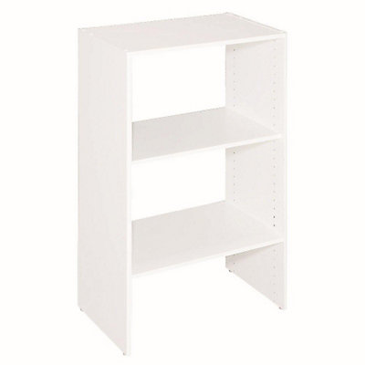ClosetMaid Selectives 145 In X 415 25 3 Shelf White Stackable Organizer