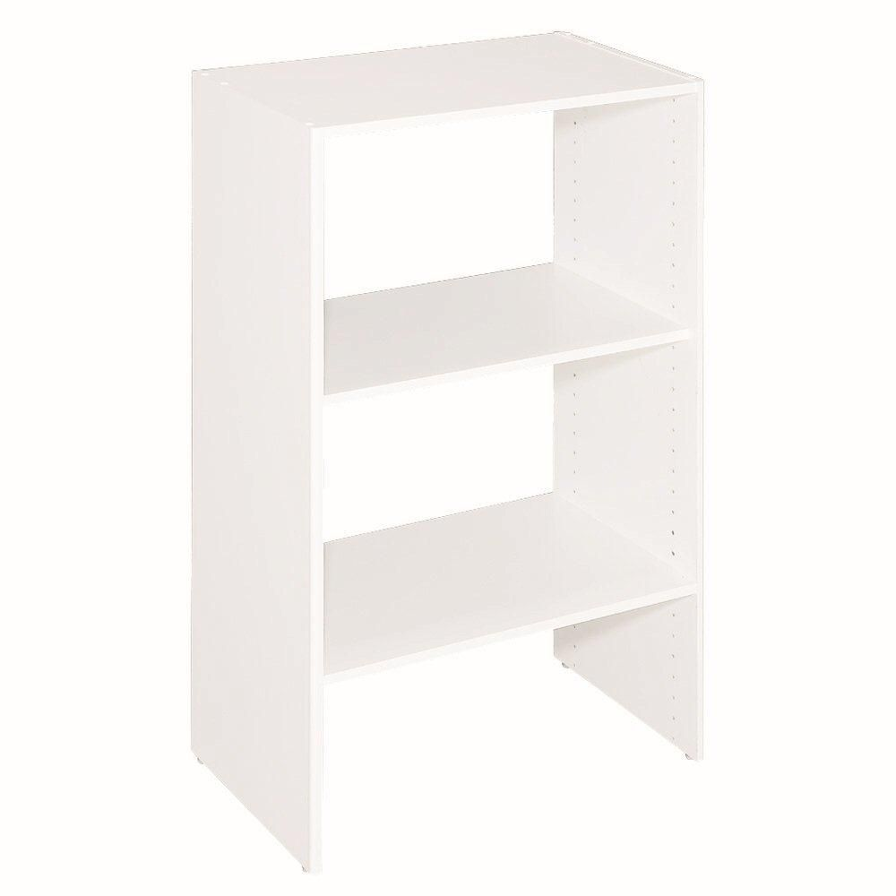 ClosetMaid ClosetMaid Selectives 14.5 in. x 41.5 in. x 25 in. 3-Shelf White Stackable Organizer