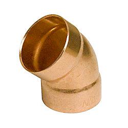 Aqua-Dynamic Fitting Copper 45 Degree Elbow 1-1/2-inch Drain, Waste & Vent